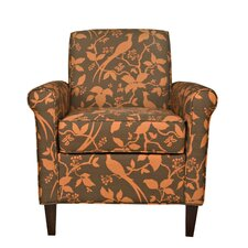 Harlow Autumn Bird and Branch Arm Chair