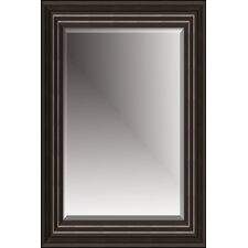 "Beveled Mirror with 4"" Moulding in Black"