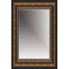 Beveled Mirror in Antique Gold Black
