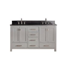 "Modero 61"" Double Vanity Set with Double Sink"