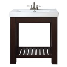 "Lexi 31.5"" Vanity Set with Integrated Vitreous China Top"