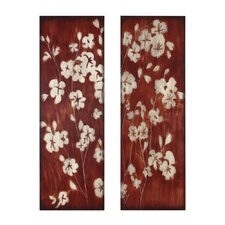 Cherry Blossom Original Painting Plaque (Set of 2)