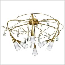 Flute 6 Light Semi Flush Mount