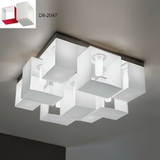 Domino 9 Light Flush Mount