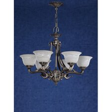 Saraso I Nine Light Traditional Chandelier in Silver Oxide