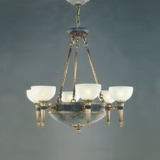Catalonia Six Light Traditional Chandelier in Antique Brass