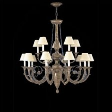 Menorca Traditional Chandelier in Ancient Silver