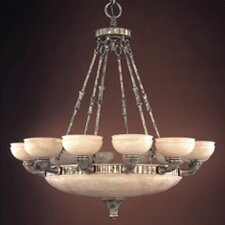 Madrid Eighteen Light Traditional Chandelier in Ancient Silver