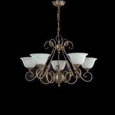 <strong>Zaneen Lighting</strong> Alava I Traditional Chandelier in English Bronze