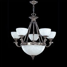 <strong>Zaneen Lighting</strong> Granada Traditional Chandelier in Pewter