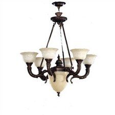 <strong>Zaneen Lighting</strong> Santos Seven Light Traditional Chandelier in Iron