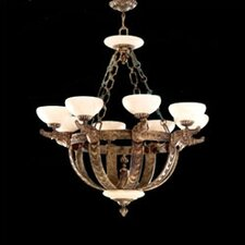 <strong>Zaneen Lighting</strong> Melilla Eight Light Chandelier in Rustic Bronze