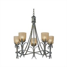 Latina Five Light Chandelier in Vintage Bronze