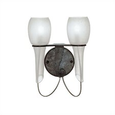 <strong>Zaneen Lighting</strong> Pavia 2 Light Wall Sconce