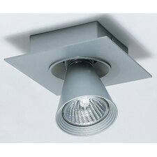 Circe One Light Flush Mount Spotlight in Metallic Gray