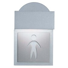 <strong>Zaneen Lighting</strong> Mini Signal Men's Room Wall Light in Metallic Gray