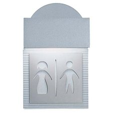 <strong>Zaneen Lighting</strong> Mini Signal Restroom Wall Light in Metallic Gray