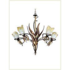 <strong>Zaneen Lighting</strong> Lombardia Five Light Chandelier in Weathered Coffee