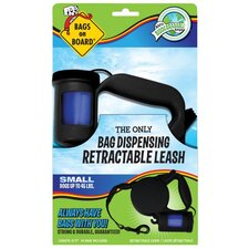 <strong>Bags on Board</strong> Small Retractable Pet Leash in Black