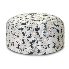 Golden Age B and W Odomez Pouf Ottoman