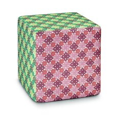 Onemo Patchwork Pouf Cube Ottoman