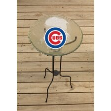 MLB Glass Bird Bath