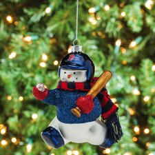 MLB Blown Glass Snowman Player Ornament