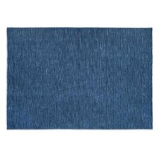 Very Flat Blue Area Rug