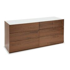 City 6 Drawer Dresser