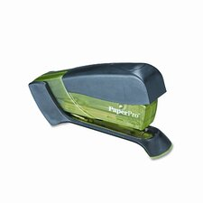 Compact Stapler, 15 Sheet Capacity, Translucent Green