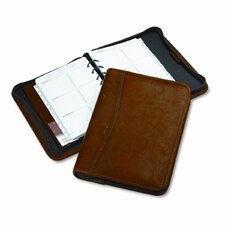 "Aviator Cowhide Leather Zippered Organizer Starter Set, 5.5"" Wide"