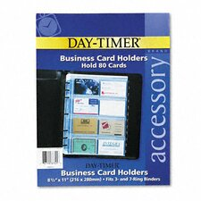 Business Card Holders for Looseleaf Planners, 8-1/2 x 11, Five per Pack