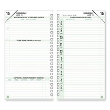 "Calendar Refill,Jan-Dec,2 PPD,Pocket Size,6-1/2""x3-1/2"", 2014"