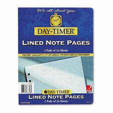 Lined Note Pad For Organizer