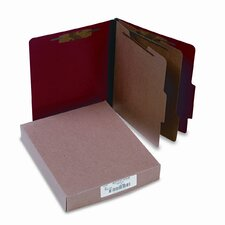 Presstex Classification Folders, Letter, Six-Section, 10/Box