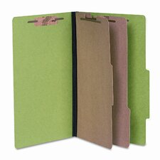Presstex Colorlife Classification Folder, Legal, 6-Section, Dark Green