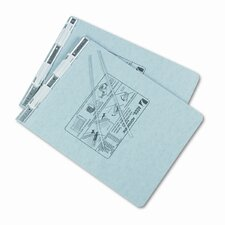 Pressboard Hanging Data Binder, 9-1/2 x 11 Unburst Sheets, Light Gray
