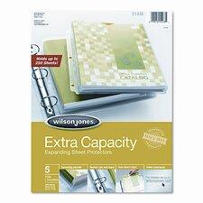 Wilson Jones Extra Capacity Sheet Protector, 5/Pack