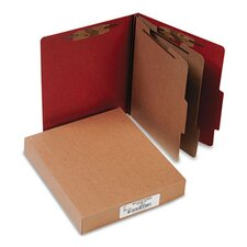 Pressboard 25-Pt. Classification Folder, Letter, Six-Section, 10/Box