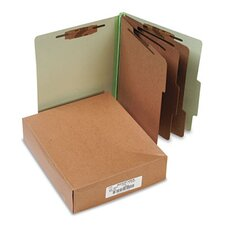Pressboard 25-Pt. Classification Folder, Letter, 8-Section, 10/Box