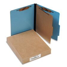 Presstex Colorlife Classification Folders, Letter, 4-Section, 10/Box
