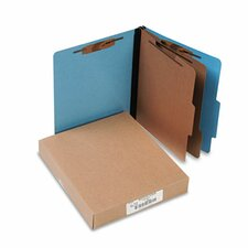 Presstex Colorlife Classification Folders, 6-Section, 10/Box