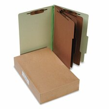 Pressboard Classification Folders, Legal, 8-Section, 10/Box