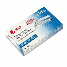 """Premium 2-Piece Paper File Fasteners, 2"""" Capacity, 50/Box"""