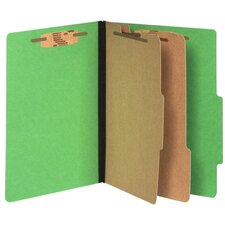 "Top-Tab Folders,w/ Fasteners,3""Exp,Letter,10/BX,Green"