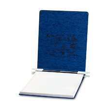 Pressboard Hanging Data Binder, 9-1/2 x 11 Unburst Sheets, Dark Blue