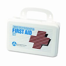 First Aid Kit for 5 People, 70 Pieces, Plastic Case (Set of 2)