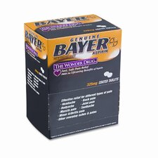 Bayer Aspirin Pain Reliever, 50 Two-Packs per Box