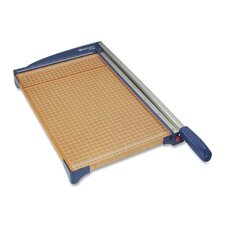 "Paper Trimmer, 15"", 14-1/4""x25-3/5""x3-1/2"", Woodgrain/Blue"