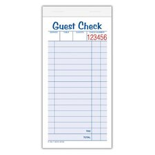 2 Part Carbonless Guest Check Pad (Set of 10)